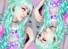 Mint Lolita wig!