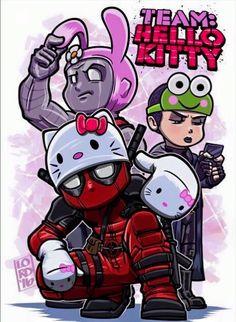 Hello Kitty / Deadpool mashup