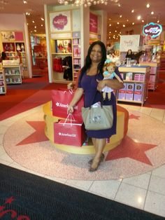 What Fabulously Wonderful 1st Date with My Hubby since My Daughter went to Kindergarden at The American Girl Doll Place Houston. We did not plan to get MaryEllen. But could not leave without her as great 1st week of Kindergarden gift for You know who!!!! Great Job Baby Girl!!!!