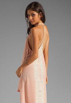 GYPSY 05 Emily Silk Spaghetti Strap Tuxedo High Low Maxi Dress in Blush at Revolve Clothing - Free Shipping!