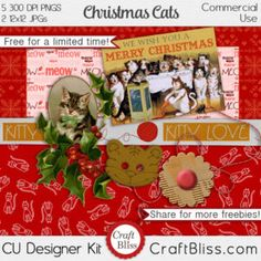 Free at www.craftbliss.com {Pinterest Christmas Free Commercial Use Christmas Pinterest Cats Cat Crafts Christmas Gifts Christmas Tree Scrapbook Craft Kit Free Kit Free Craft Kit Christmas Pinterest Scrapbook Free Scrapbook Kit Free Digital Scrapbook Kit Santa Craft Bliss Free Scrapping Scrapbook Layout Scrapbook Paper Digital Kit Card Kit Free Christmas Giveaway Pinterest CraftBliss Christmas in July }