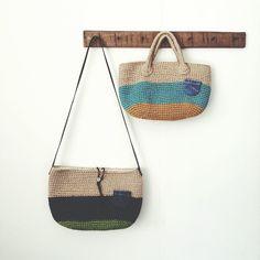 2014.6.27 店さき市 出品者様ご紹介③ workshop ako 可愛い麻ひもバッグ お持ちくださいましたー #店さき市 #event #news #麻ひもバッグ #knit #knitting