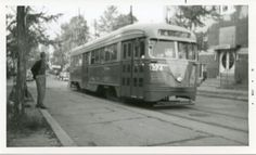 Capital Transit PCC on Route 74 (7th Street Warves) (1950s).