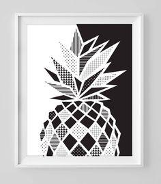 Black and white pineapple doodle zentangle art Cute Doodle Art, Doodle Art Designs, Doodle Art Drawing, Zentangle Drawings, Mandala Drawing, Doodle Wall, Watercolor Mandala, Zentangle Patterns, Zentangles