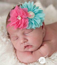 Baby headband, baby headbands, girls headband,newborn headband,shabby chic headband, couture baby headband,flower headband, Baby Hair Bows.