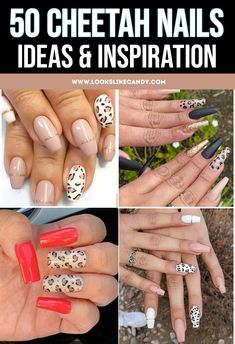 Here are the best cheetah nail ideas for 2020! Get inspired by these cheetah nails designs. Pink Cheetah Nails, Cheetah Nail Designs, Nude Nails, Coffin Nails, Mani Pedi, Manicure, 50 And Fabulous, Accent Nails, Cool Patterns