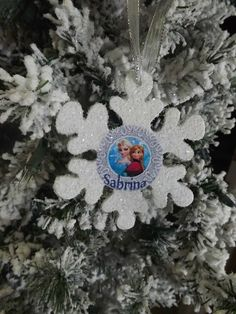 Disney Frozen Elsa & Anna Snowflake Ornament by NeverGrowUp4Ever