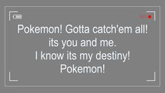 Pokemon Song Lyrics - Season 1 | Pokemon Lyrics