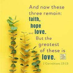 1 Cor. 13:13 - #christianity #christian #bible #faith #jesuschrist #God #love #christianencouragement #truth #biblestudy #hope #corinthians
