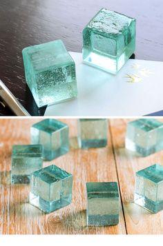 ガラスキューブ ガラスブロック ペーパーウエイト おしゃれ