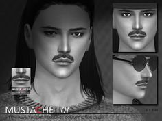 Mustache for you, hope you like, 10 colors inside, thank you.  Found in TSR Category 'Sims 4 Facial Hair'