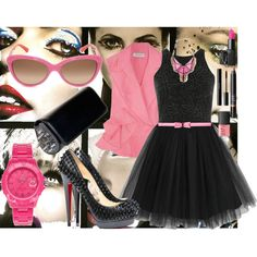 black tutú, created by lucloset on Polyvore