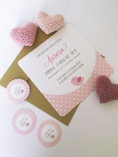 Un invito a pois rosa