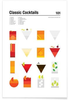 Classic Cocktails by Nick Barclay as Poster Cocktail Book, Cocktail Menu, Cocktail Illustration, Graphic Illustration, Menu Design, Layout Design, Logo Label, Nightclub Design, Music Collage