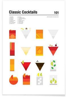 Classic Cocktails en Affiche premium par Nick Barclay | JUNIQE