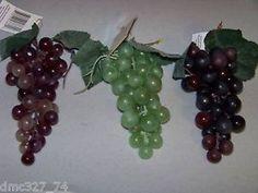 Decorative Accent Craft Plastic Faux Grape Grapes Bunch You Choose Color | eBay