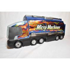 Super Stunt Tanker Playset Micro Machines 2003 Passenger door sticker wore off No cars included except one