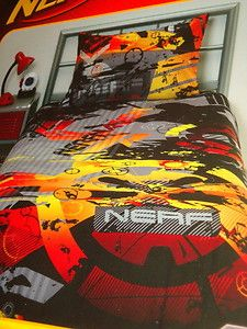 Boys Nerf Action Reversible Single Quilt Cover SET Bnip Nerfination | eBay
