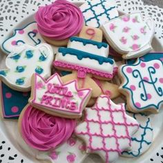 Custom birthday cookies from Little Prince Cookies