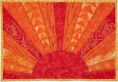 "Free pattern: Aurora Sunshine quilt, 10 x 14"",  free pattern by Marlis Bennett for Bernina"