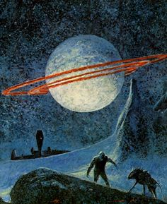 Illustration by John Schoenherr for Moon of Three Rings, Andre Norton, 1974.