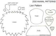 Zoo Animal Free Paper Piecing Patterns - Lion Paper Piecing Pattern: Zoo Animal Free Paper Piecing Patterns for Scrapbooking - Lion Pattern