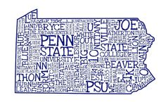 Penn State Art Print Thinking of doing this with UNC Alma Mater, Penn State Sports, State College, College Life, Pennsylvania State University, State Room, Ps I Love, Happy Valley, Crafty Craft