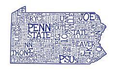 Penn State Art Print