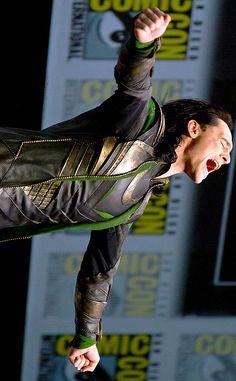 """Tom Hiddleston as Loki:  """"Say my name !!!"""" at San Diego Comic-Con 2013"""