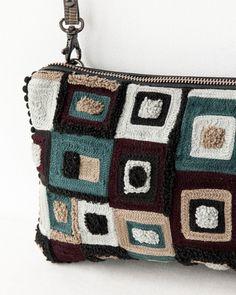 moderno bolso de ganchillo
