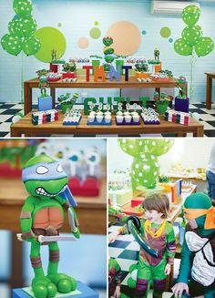 teenage mutant ninja turtle birthday party ideas www.spaceshipsandlaserbeams.com