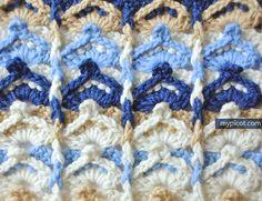 MyPicot | Multicolored Crochet Stitch | Free crochet patterns | *New as of 9/11/15
