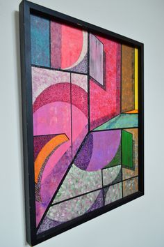 Colorful Abstract Painting by Andy Peterson The by GalaxieModern