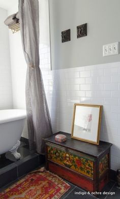 Glamorous-shower-stall-curtains-in-Bathroom-Eclectic-with-India-Interior-Design-India-next-to-Unique-Shower-Curtain-Ideas-alongside-Bullnose-Tile-andWhite- ...