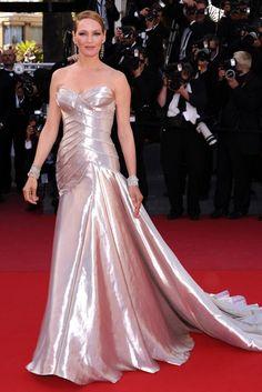 Uma Thurman at the Cannes Festival 2013