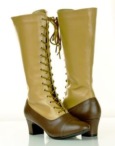 steampunk WWI shoes, a female version. Could do with cloth overlay for both men and women.