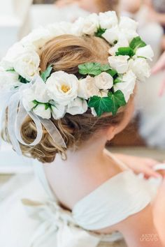 Beautiful floral crown: http://www.stylemepretty.com/2015/09/10/classic-hotel-washington-dc-wedding/ | Photography: Justine Ungaro - http://justineungaro.com/