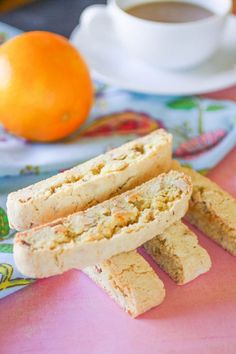 Almond-orange Biscotti With Flour Sugar Baking Powder Ground Cinnamon Salt Eggs Vegetable Oil Almond Extract Orange Zest Toasted Almonds Chocolate Italian Cookies, Italian Desserts, Italian Recipes, Italian Biscuits, Italian Foods, Cookie Desserts, Cookie Recipes, Scones, Biscotti Cookies