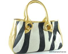 Shea Fashion Finds - Beverly Feldman purse, Gold Leather