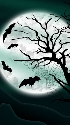 Night Bats Halloween iPhone 6 & iPhone 6 Plus Wallpaper