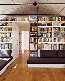 Librero con escalera