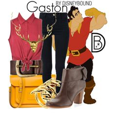 Gaston by leslieakay on Polyvore featuring Ally Fashion, STELLA McCARTNEY, Kate Spade, The Cambridge Satchel Company, House of Harlow 1960, Liebeskind, Gisele Ganne and Disney