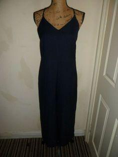 Lagenlook Cotton Summer Shoulder Tie Romper Jumpsuit Dress 1 Size UK10-18 Beige