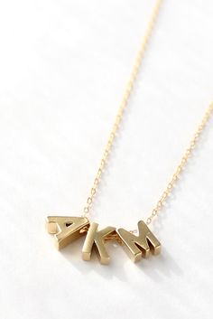 Letter Necklace - Tiny Initial - Gold Personalized Letter Charm