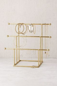 Shop Emilia Tiered Jewelry Stand at Urban Outfitters today. We carry all the latest styles, colors and brands for you to choose from right here. Earring Storage, Jewellery Storage, Jewelry Organization, Jewellery Display, Diy Jewellery, Bridal Jewelry, Jewelry Holder, Jewelry Shop, Necklace Holder