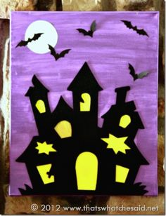 Haunted House Canvas Close Up