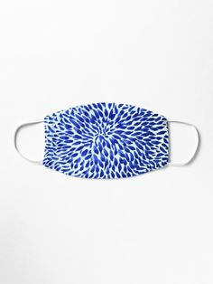 """""""Blue Bloom """" Mask by YollieBeeArt   Redbubble"""