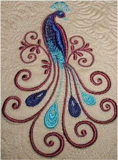 Embroidery Stitches How To provided Embroidery Library Stitchers Showcase save Simple And Beautiful Embroidery Designs its Free Embroidery Patterns-roses despite Embroidery Stitches Lazy Daisy Embroidery Designs, Hand Embroidery Patterns, Ribbon Embroidery, Quilting Designs, Embroidery Stitches, Quilt Patterns, Machine Embroidery, Embroidery Tattoo, Peacock Quilt