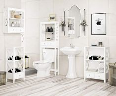 pin it for later. Read more on french country bathroom accessories. This Bathroom Cabinet Wall Mounted Constructed with Quality Manufactured Wood, Featuring four Open X-Patterns on Each Side and two Lower Drawers , Make this Wall Cabinets with Shelves More Durable and Stylish. #frenchcountrybathroomaccessories