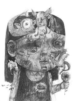 Anxiety ~ artist Stefan Zsaitsits #sketch